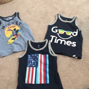 Gap 2T Boy Tank Tops